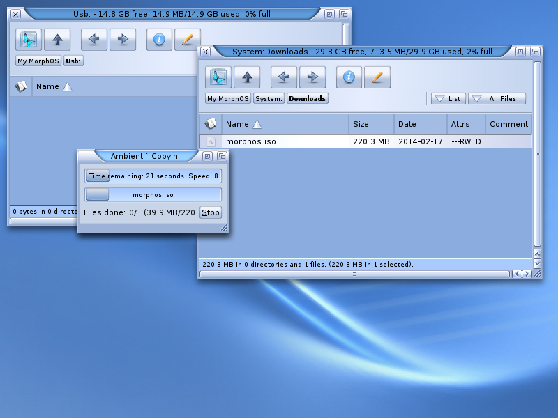 MorphOS - USB Boot & Installation - Guide
